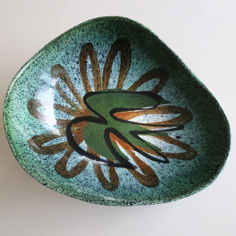 "large green ""mayan"" bowl"