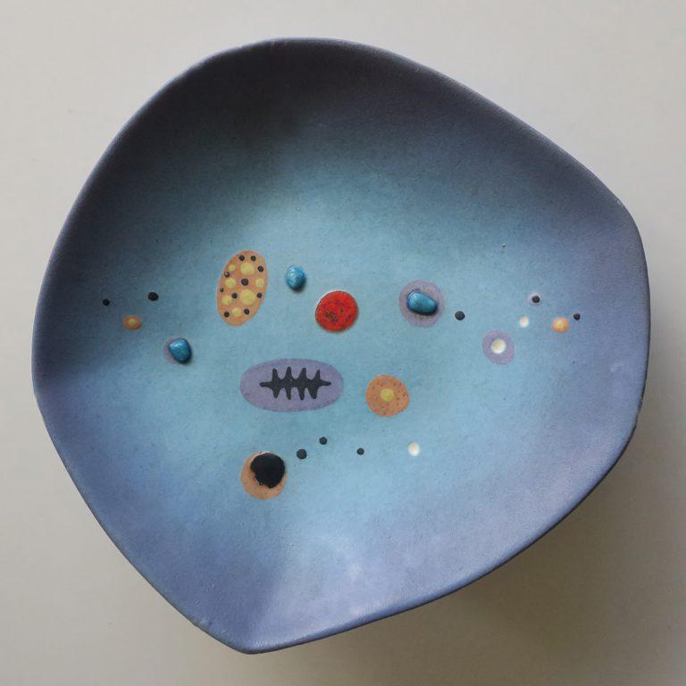 matte blue bowl