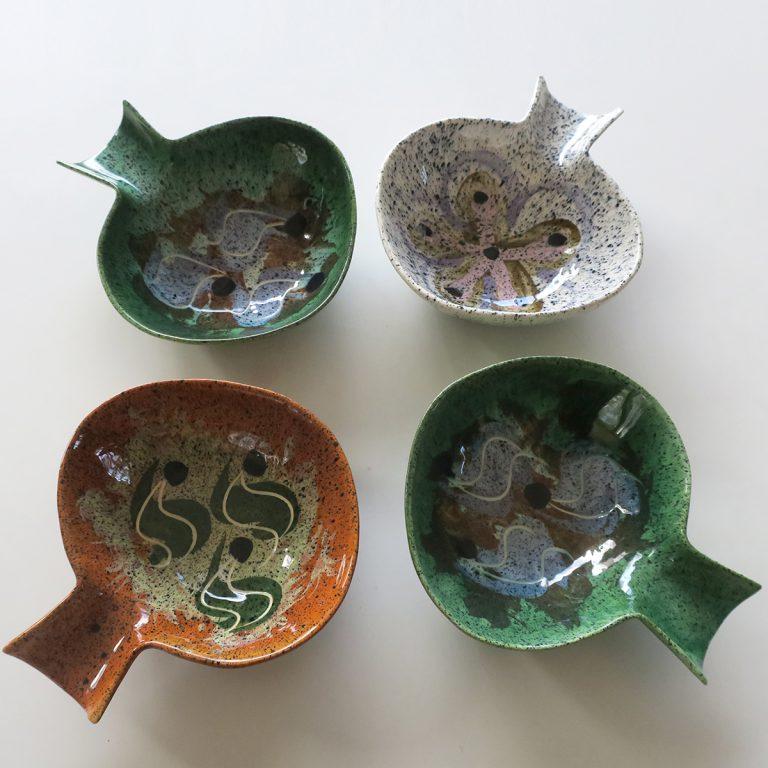 """""""mayan"""" fantail bowls"""