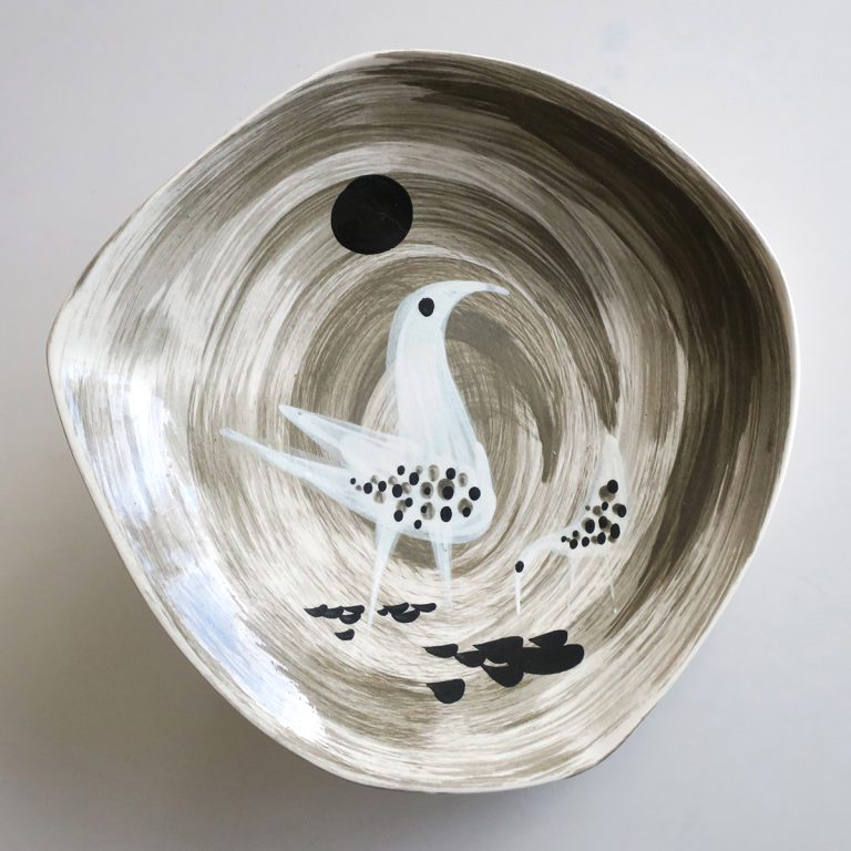 """etruscan"" bowl with heron"